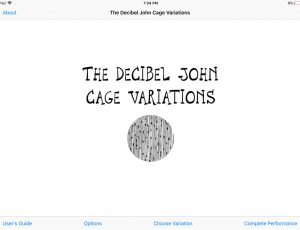 Decibel John Cage Variations iPad App - Opening Screen