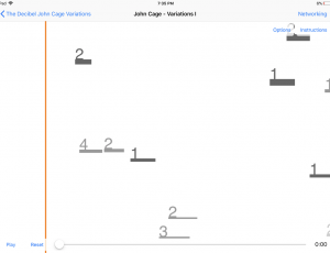 Decibel John Cage Variations iPad App - Variations 1