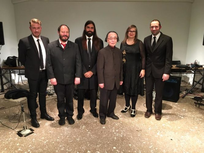 After the first concert in Tokyo, the Complete John Cage Variations Project, with Toshi Ichiyanagi.